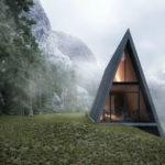 Треугольный вариант фасада