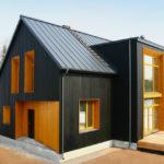 Вариант черного стильного фасада