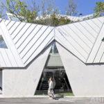 Вариант фасада треугольной формы