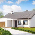 Вариант оформления фасада с двухскатной крышей