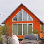 Вариант оранжевого фасада