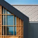 Вариант применения черных панелей для фасада