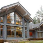 Вариант применения серого фасада