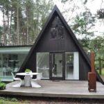 Вариант современного фасада треугольной формы