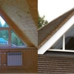 Вариант создания фасада с треугольными окнами