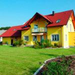 Желтый фасад для частного дома