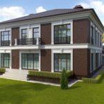 Загородный дом с привлекательным фасадом