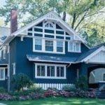 голубой фасад для дома