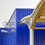 Голубые панеля для фасада