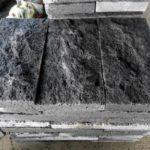 Базальтовая черная плитка для обустройства фасада