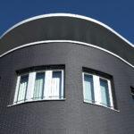 Оригинальная черная плитка для фасада