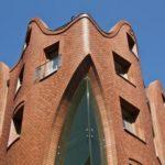 Фасад из клинкерной плитки красного цвета
