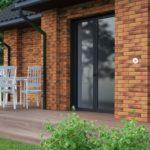 Современная коричневая плитка для фасада