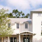 Вариант применения белой плитки для фасада