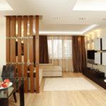 Виды зонирования комнаты на спальню и гостиную