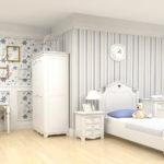 Декор детской комнаты для девочки в французском стиле