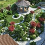 Ландшафтный дизайн возле частного дома по своему проекту