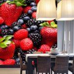 Фотообои для кухни: разнообразие цветов и размеров