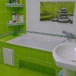 Ванная комната в зеленых тонах — свежесть и позитив